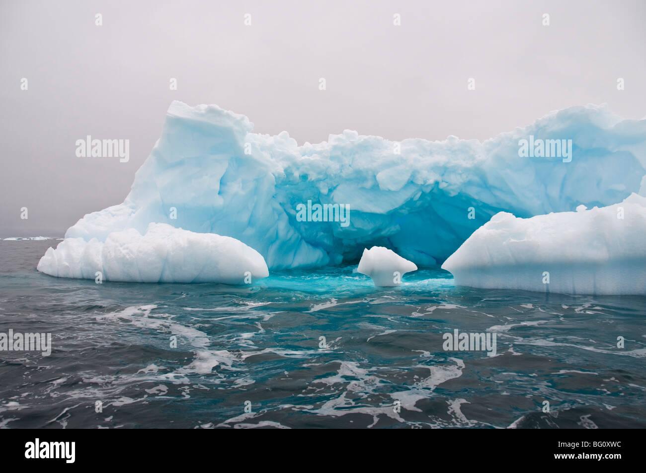 Iceberg, near Yalour Island, Antarctic Peninsula, Antarctica, Polar Regions - Stock Image