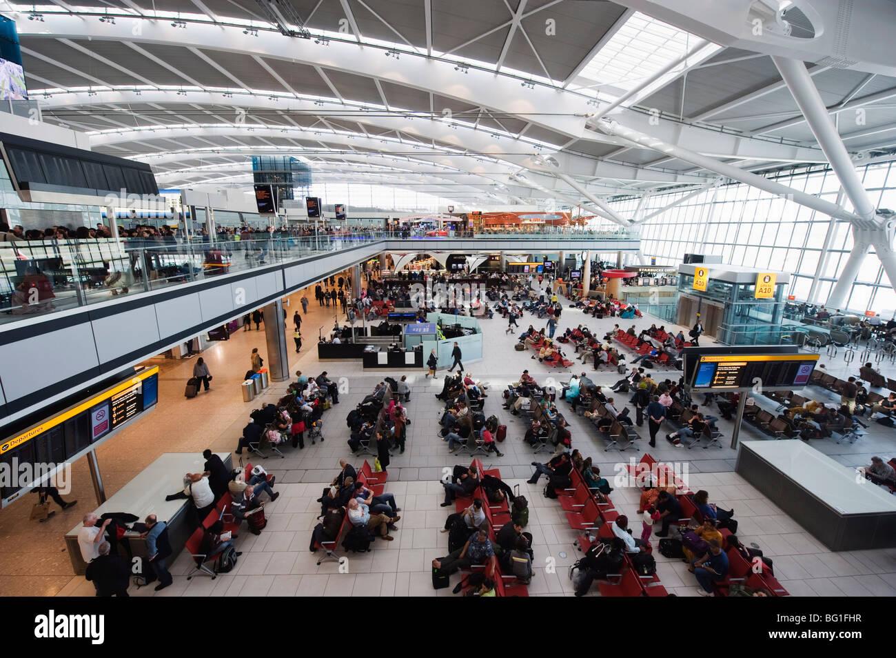 Heathrow Airport, Terminal 5, London, England, United Kingdom, Europe - Stock Image