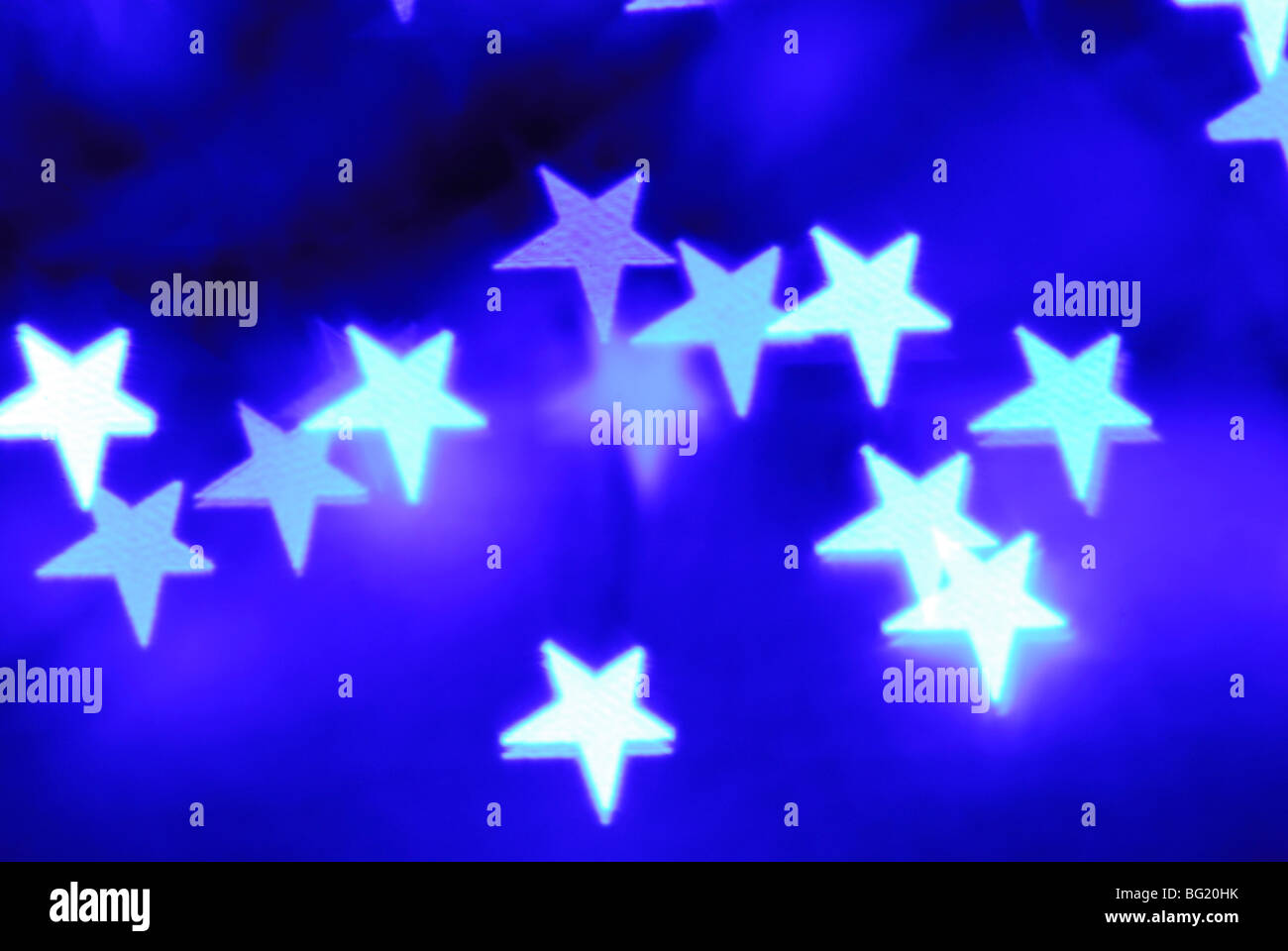 Abstract stars on blue background - Stock Image
