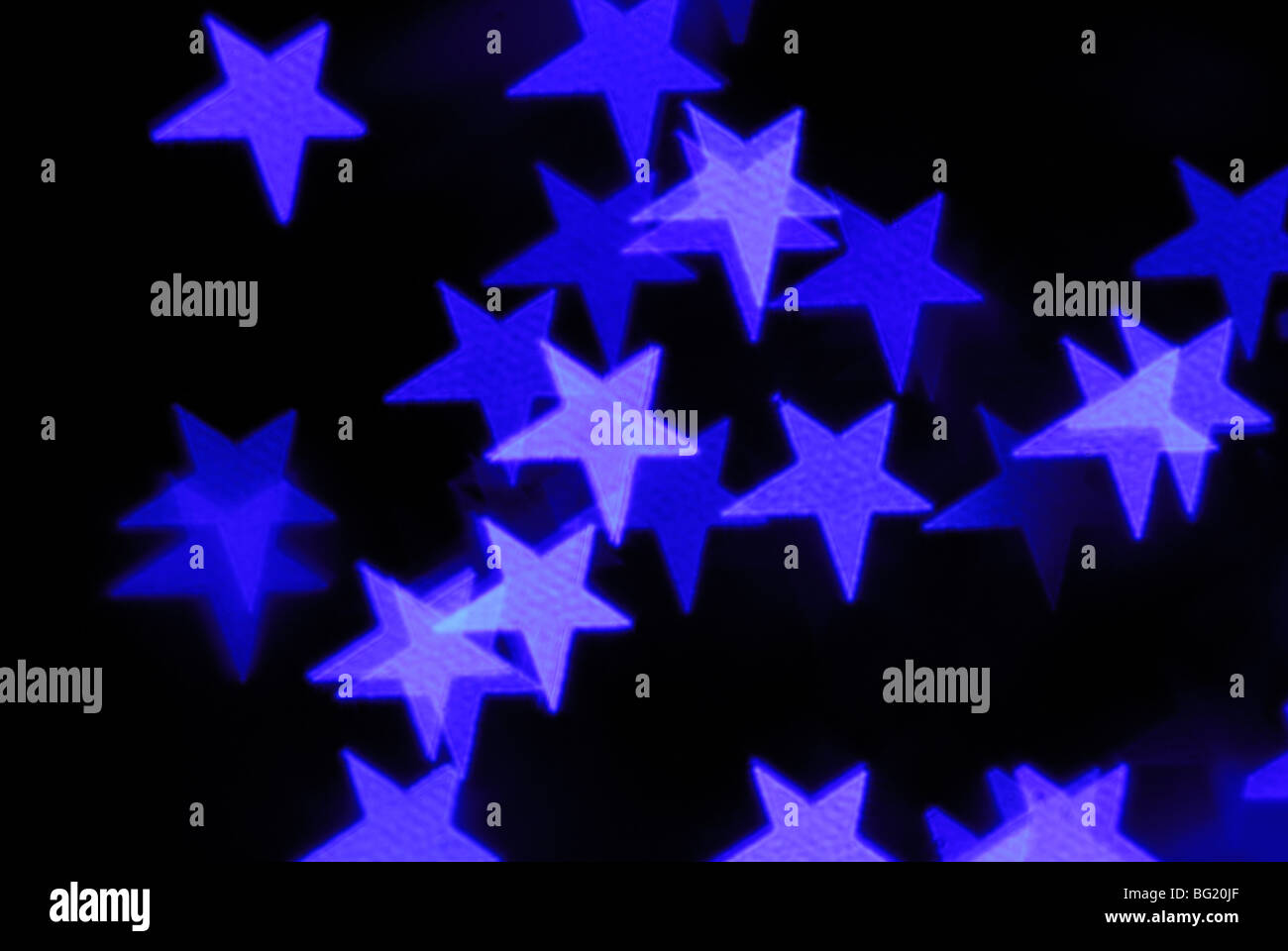 Abstract stars on black background - Stock Image
