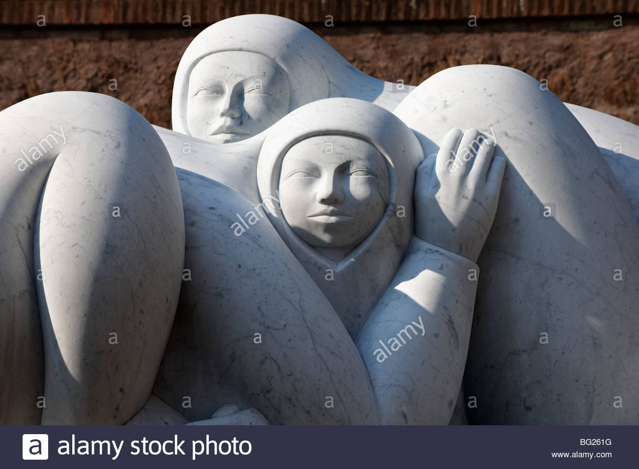 Modern sculpture by Jmenez Deredia in the Forum . Rome - Stock Image
