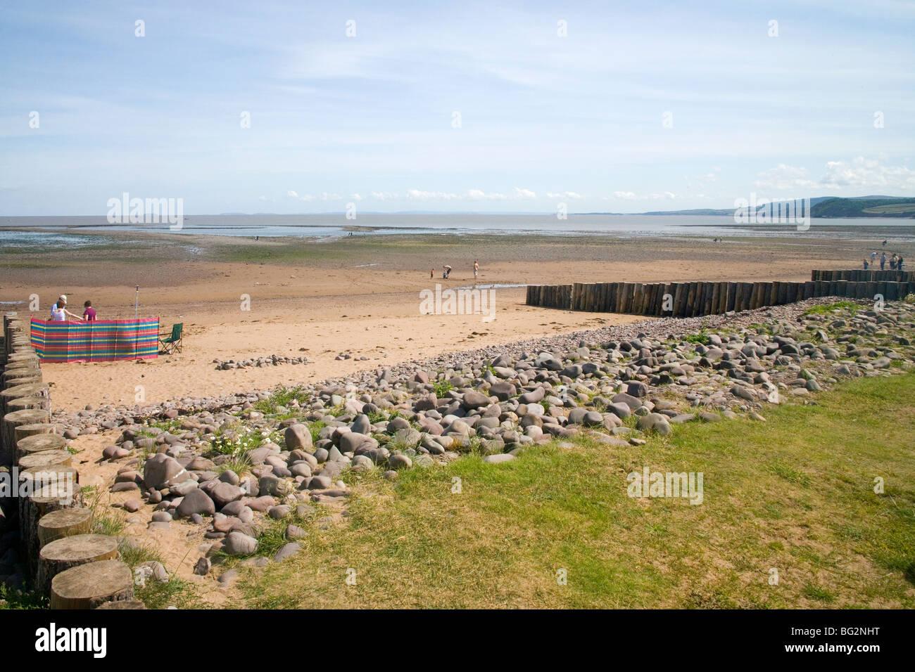 dunster beach exmoor somerset Stock Photo