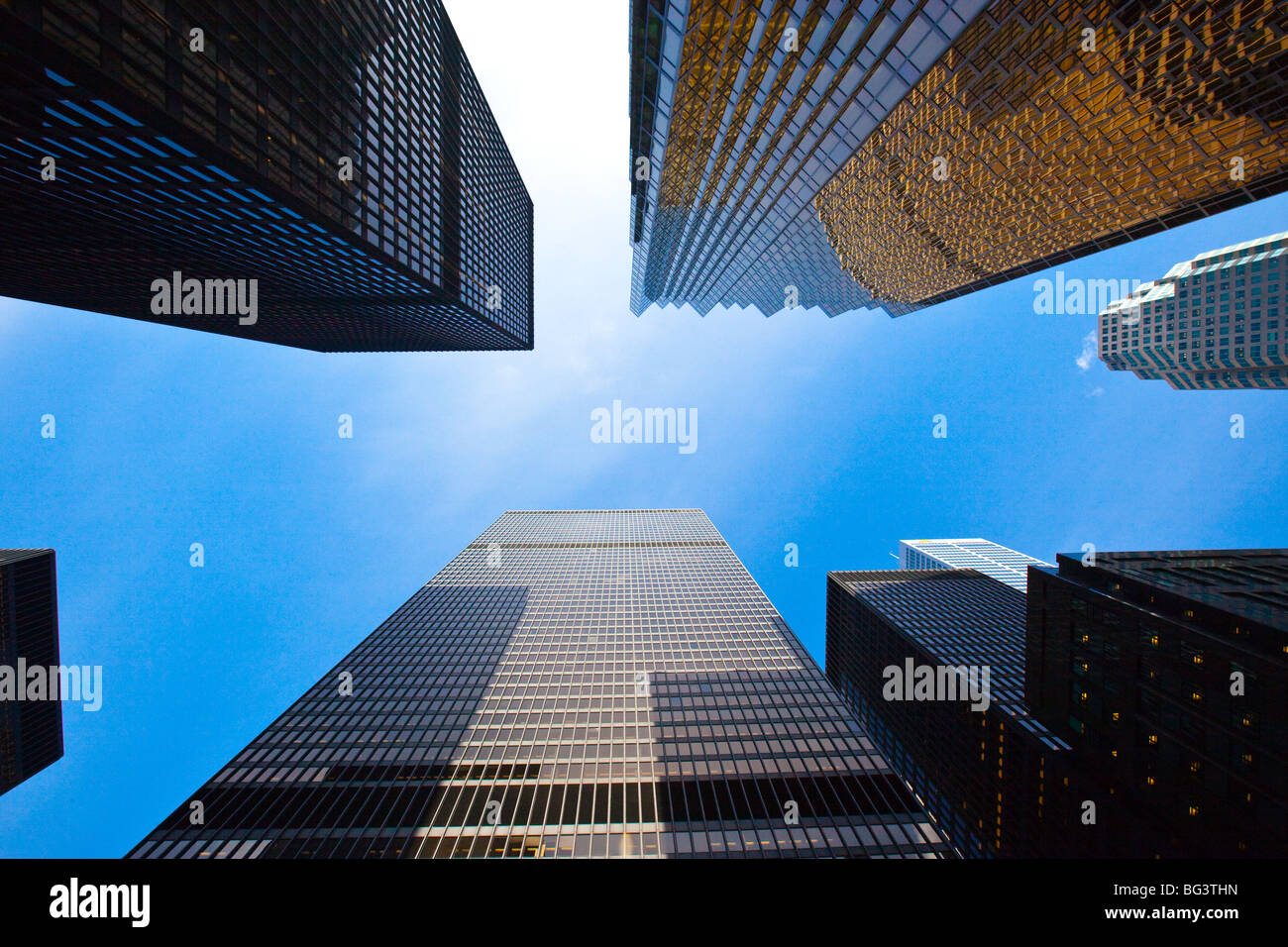 Skyscrapers in Downtown Toronto Canada - Stock Image