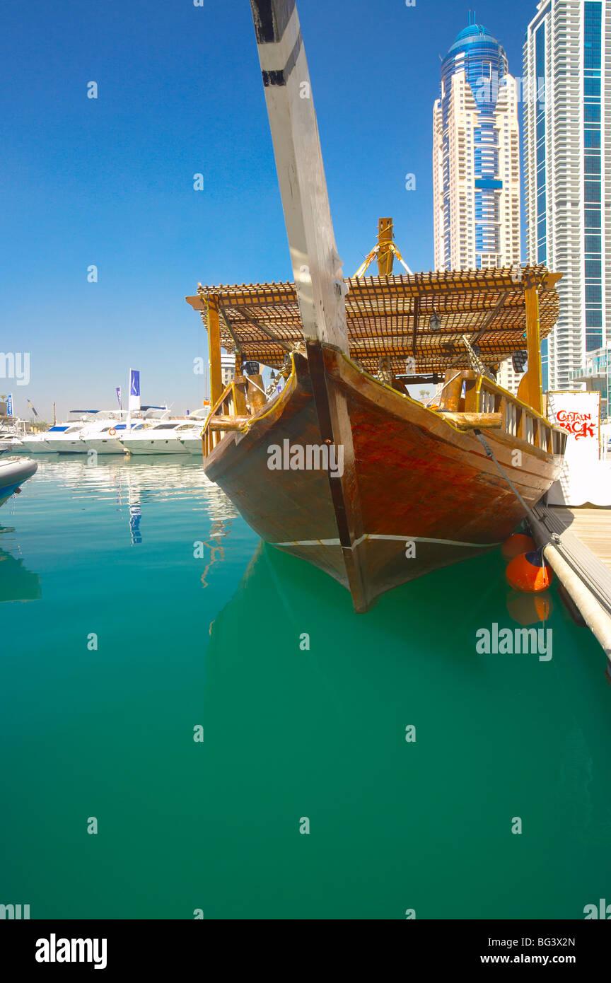 Marina, Dubai, United Arab Emirates, Middle East - Stock Image