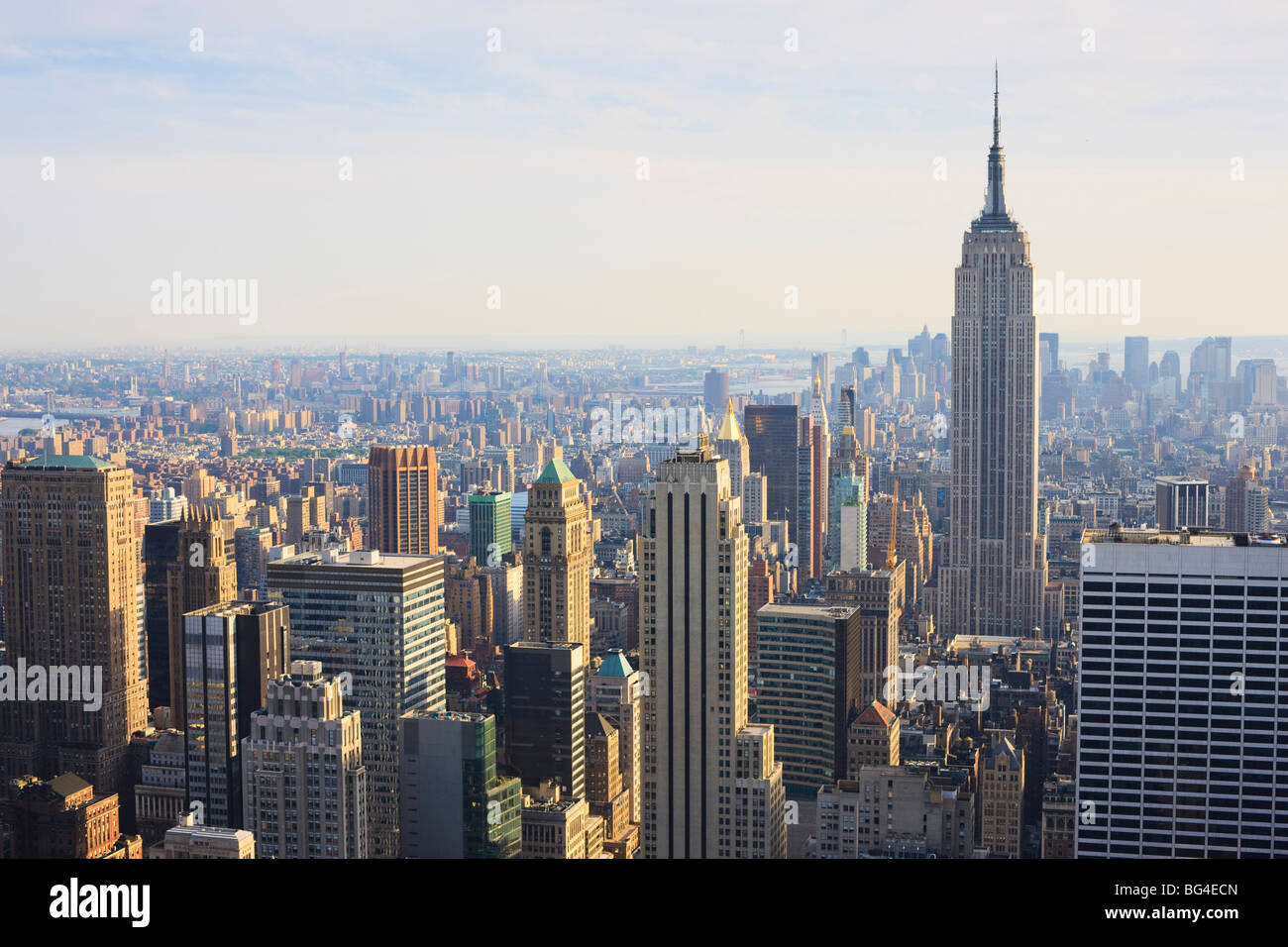 Empire State Building and Manhattan cityscape, New York City, New York, United States of America, North America - Stock Image
