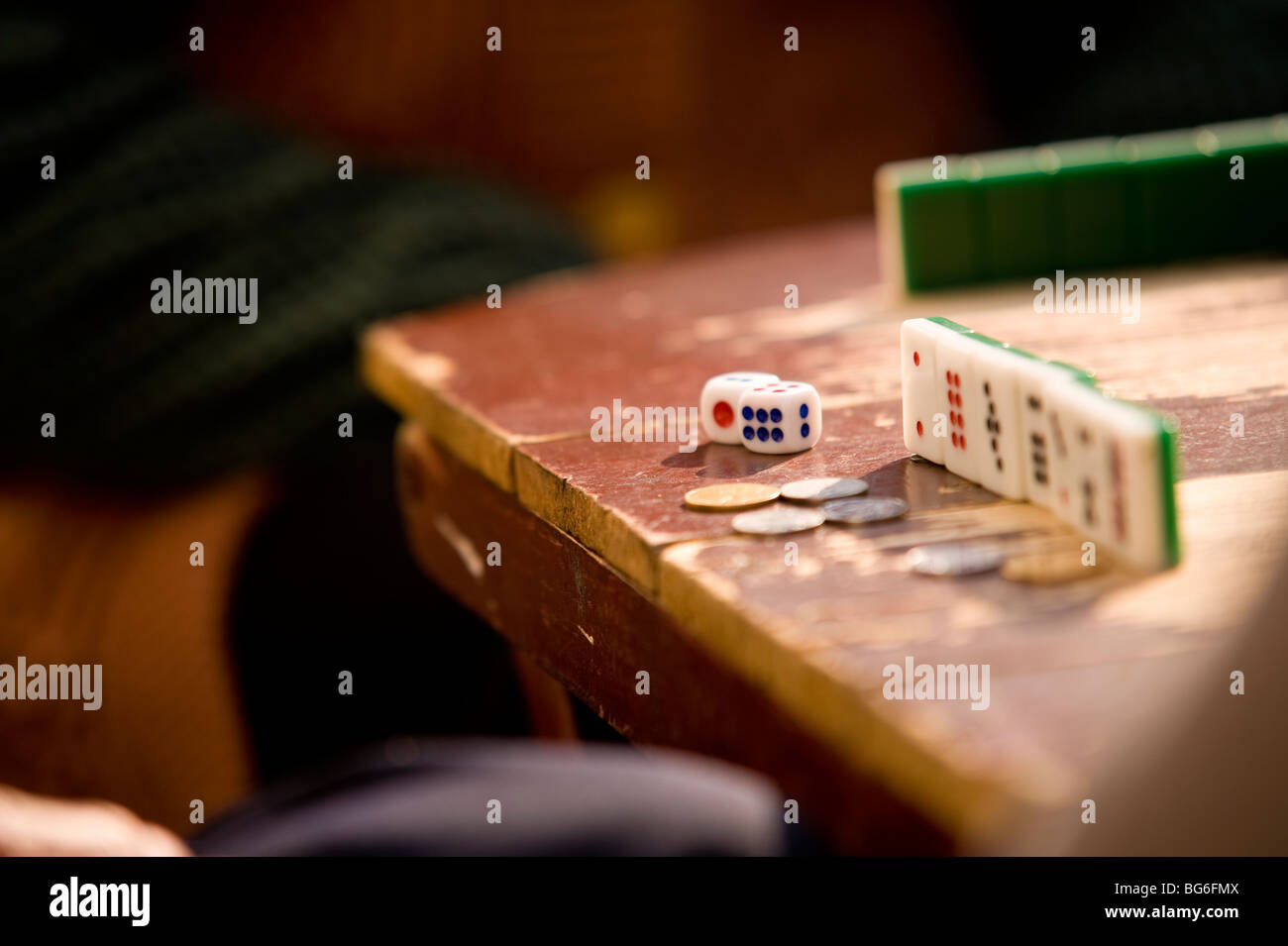 Domino Game, The Old City, Shanghai, China - Stock Image