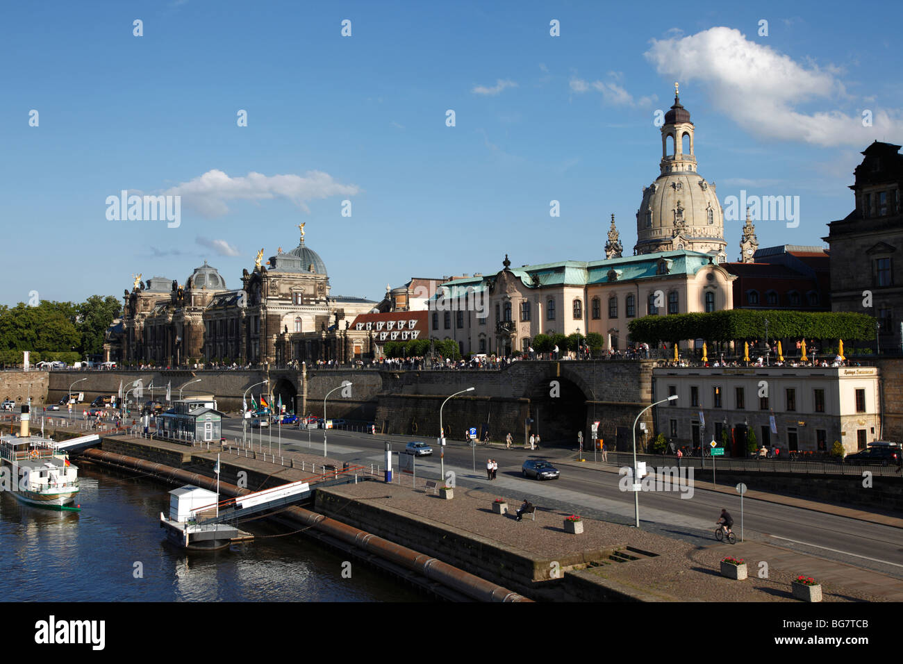 Germany Saxony Dresden Old Town Bruhl S Terrace Bruhlsche Terrasse