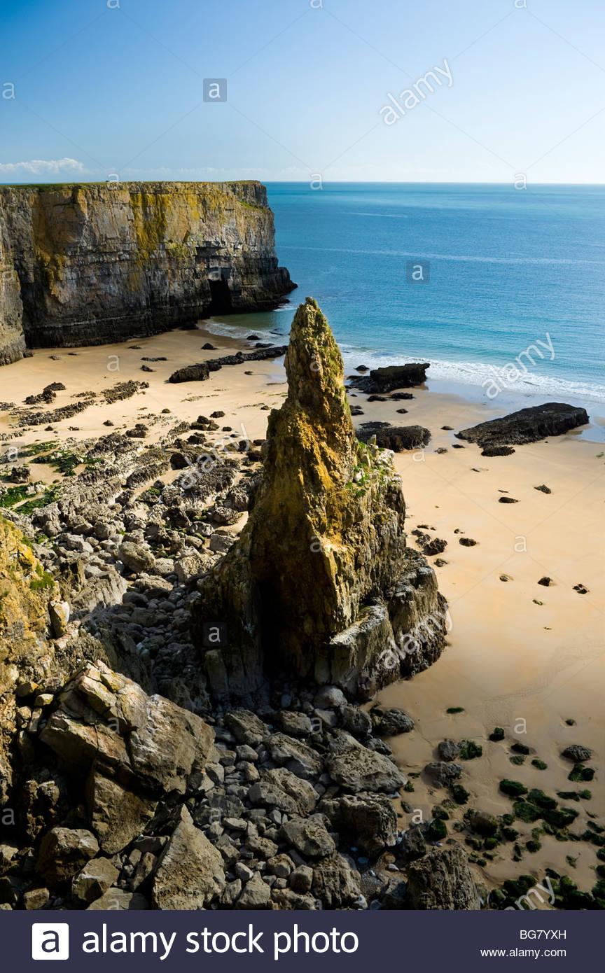Pinnacle Rock, Pembrokeshire Coast National Park, South Wales, UK. - Stock Image