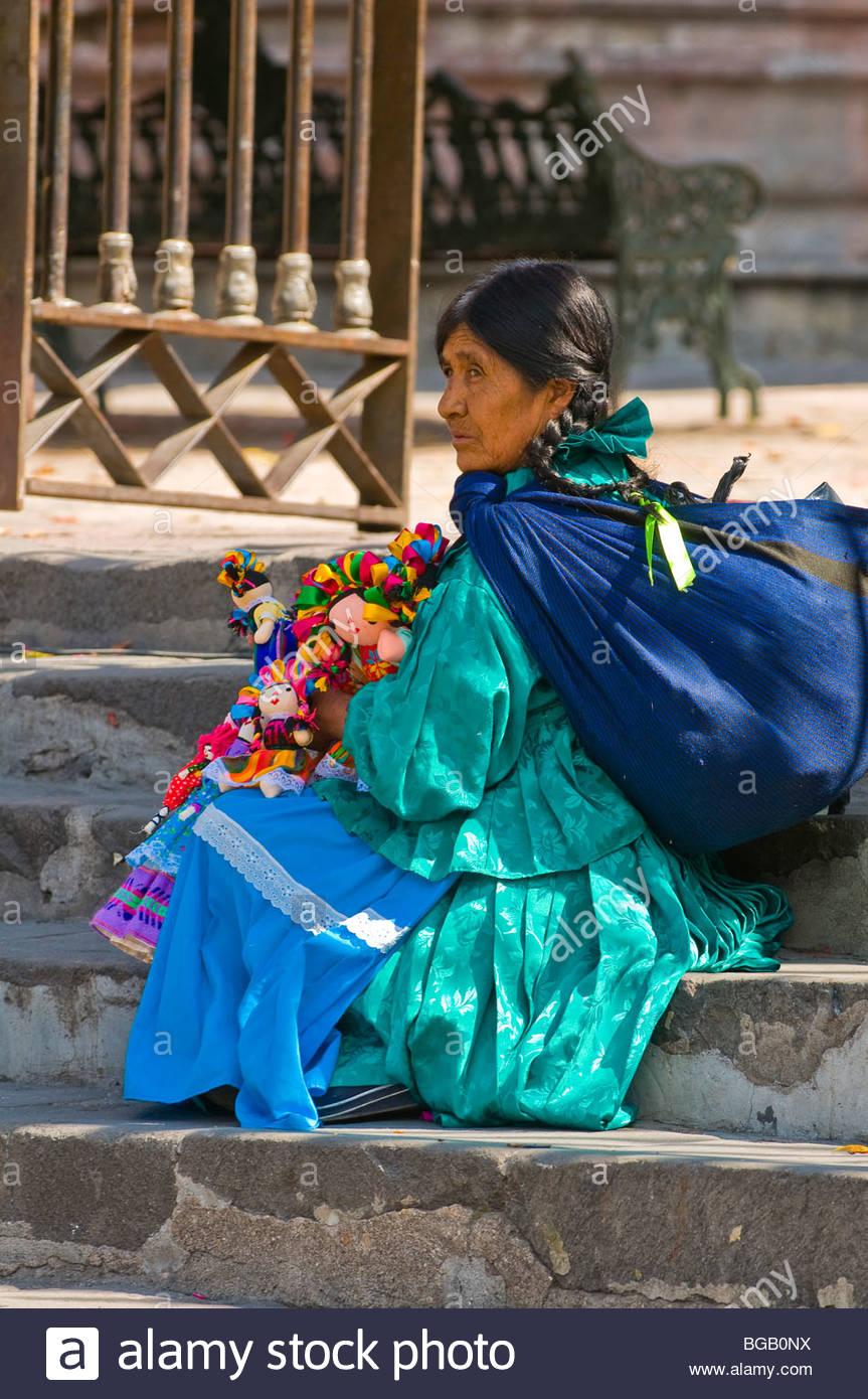 Street scene, San Miguel de Allende, Guanajuato State, Mexico - Stock Image