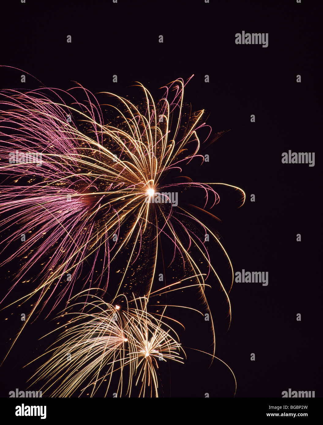 Fireworks; Montreal International Fireworks Competition, Quebec, Canada - Stock Image