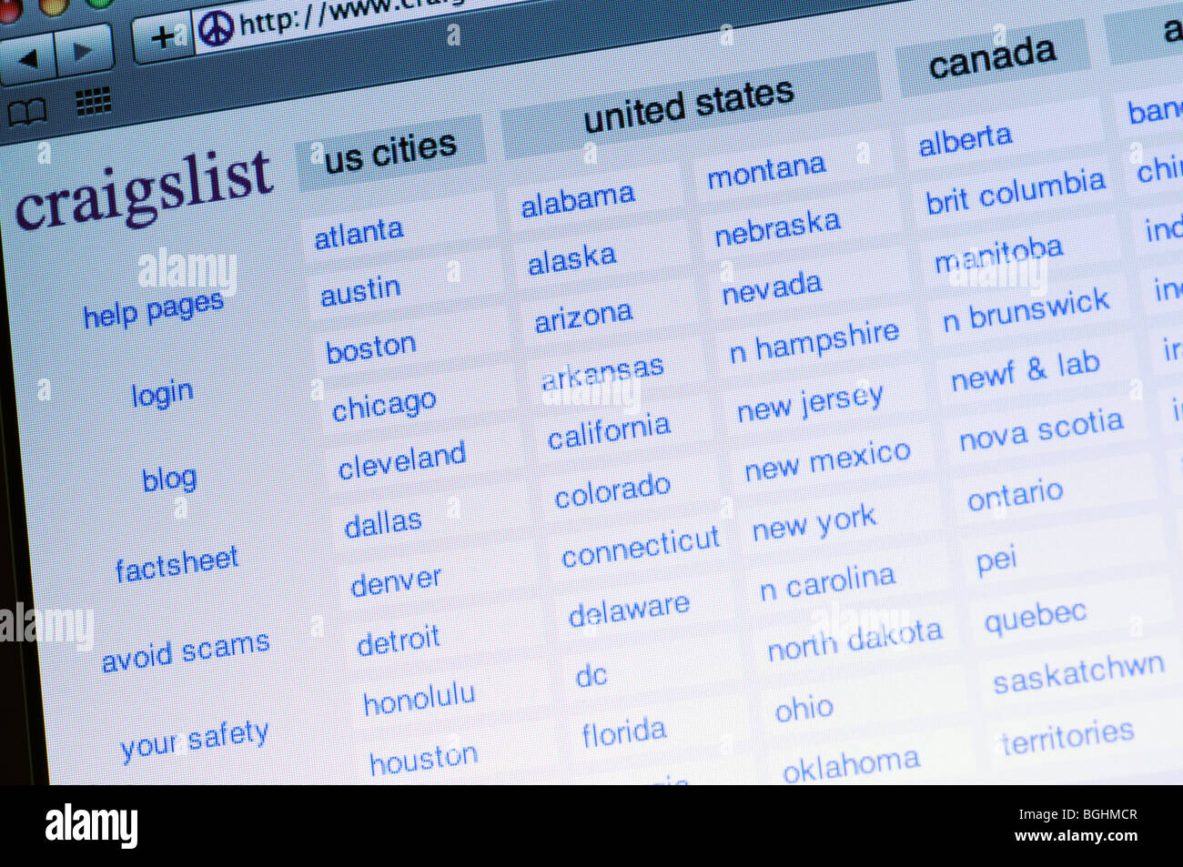 Craigslist website Stock Photo: 27434087 - Alamy