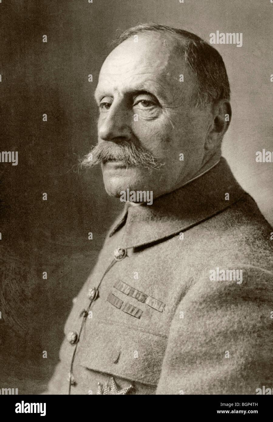 Marshal of France Ferdinand Foch 1851 to 1929. - Stock Image
