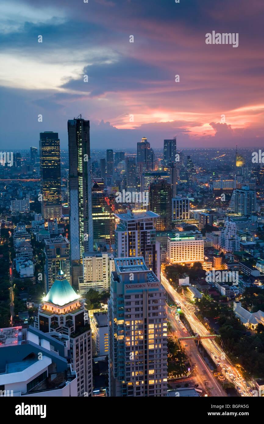Business district, Bangkok, Thailand - Stock Image