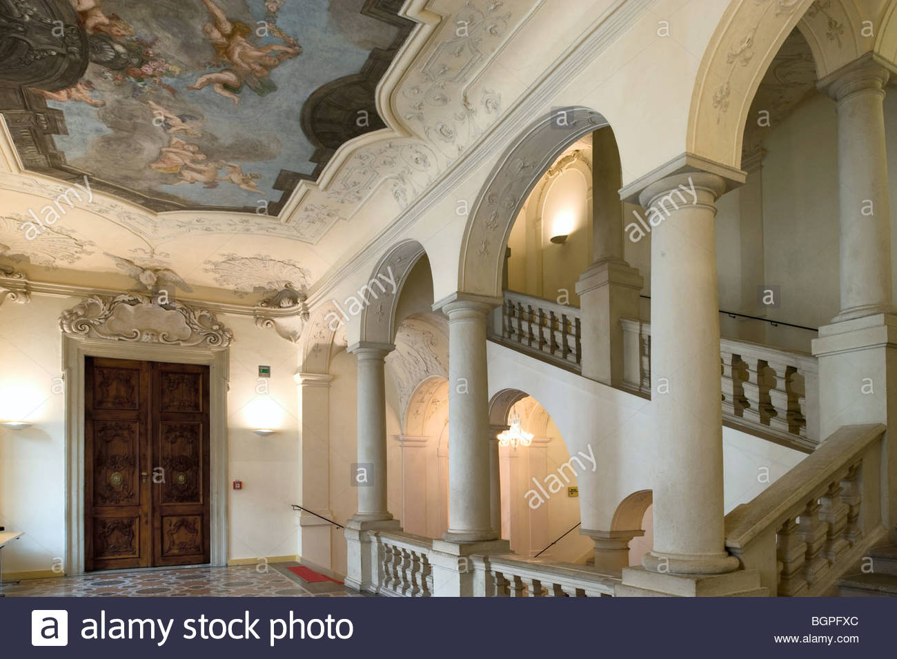 1687 von Giovanni Pietro Tencala  Vienna, Palais Lobkowitz, today Theater Museum, erected 16851687 by Giovanni Pietro Stock Photo