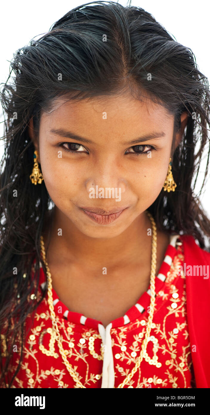 Indian Young Teen Model Fashion Glamour Model: 12 Year Old Girl Portrait Ethnic Stock Photos & 12 Year