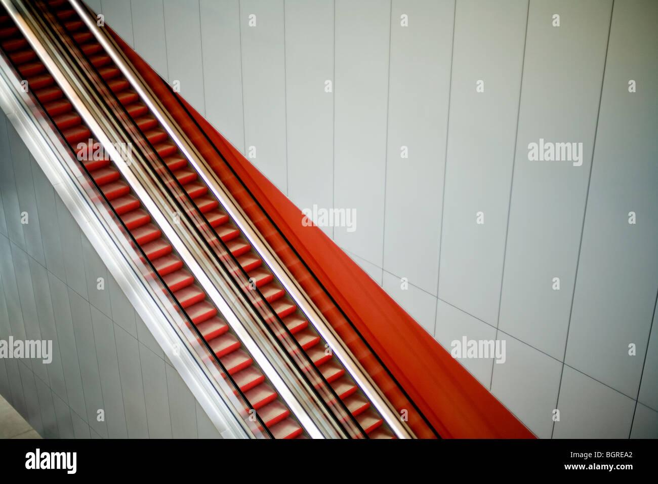 Escalator, Sweden. Stock Photo