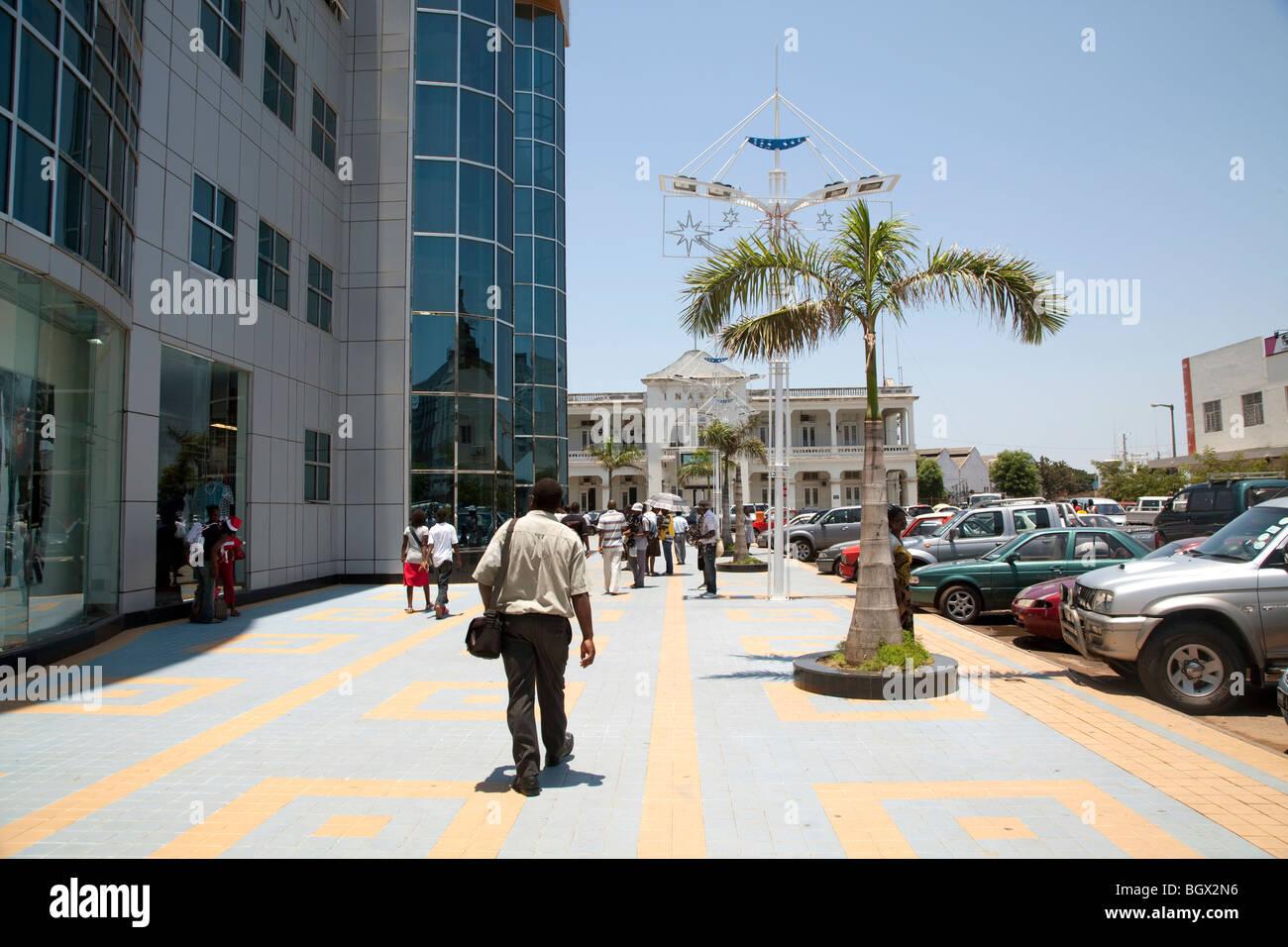 Outside the Maputo Shopping center, Mozambique - Stock Image