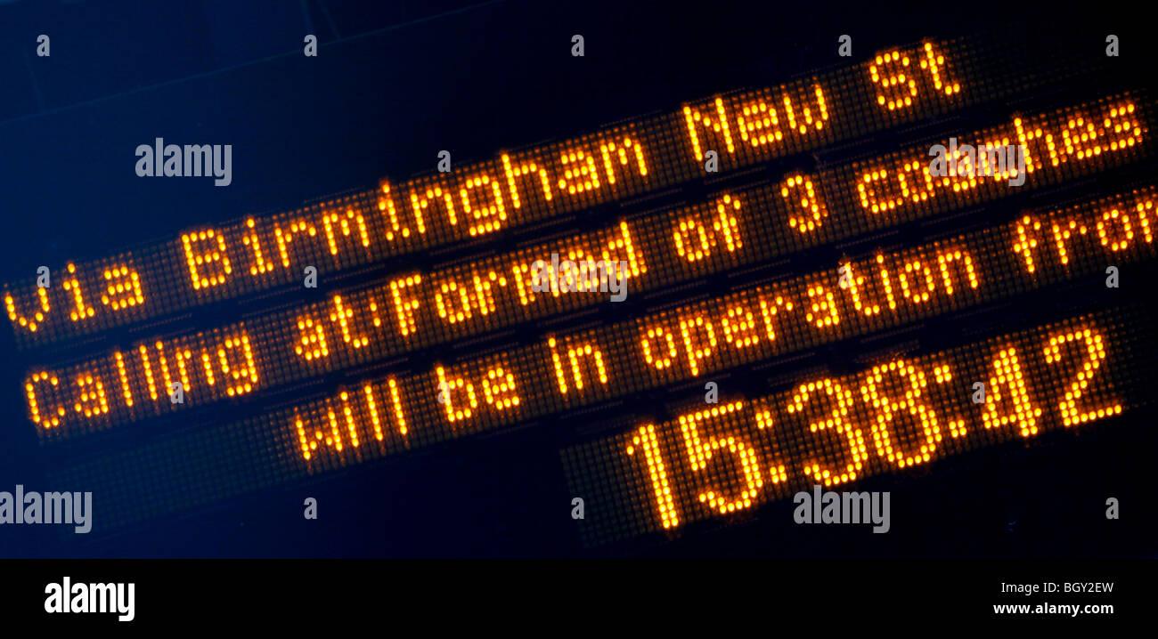 Longbridge train station, Birmingham, West Midlands. - Stock Image