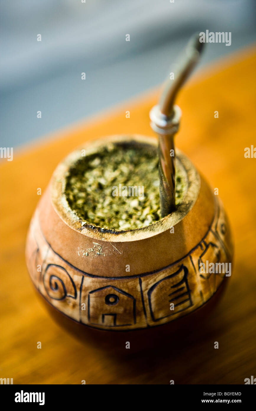 Mate tea - Stock Image