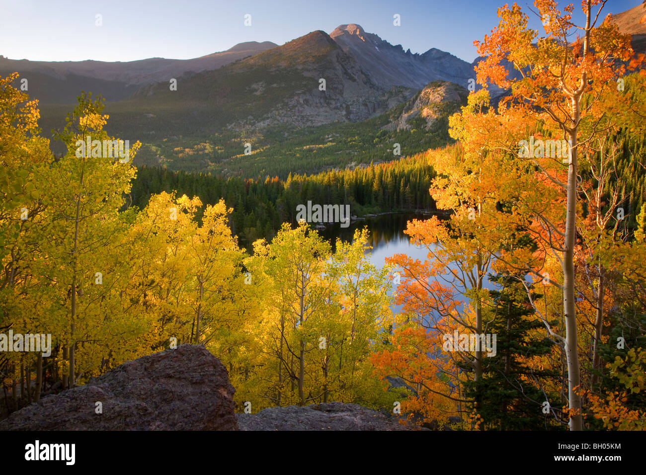 Autumn colors at Bear Lake, Rocky Mountain National Park, Colorado. - Stock Image