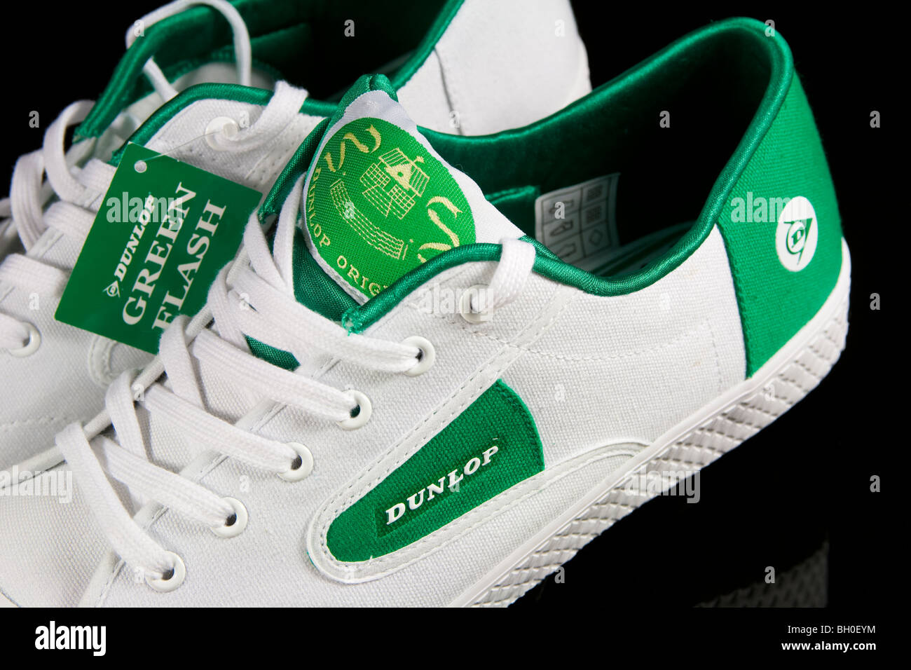 A Pair Of Dunlop Green Flash Tennis Shoes Stock Photo 27671272 Alamy