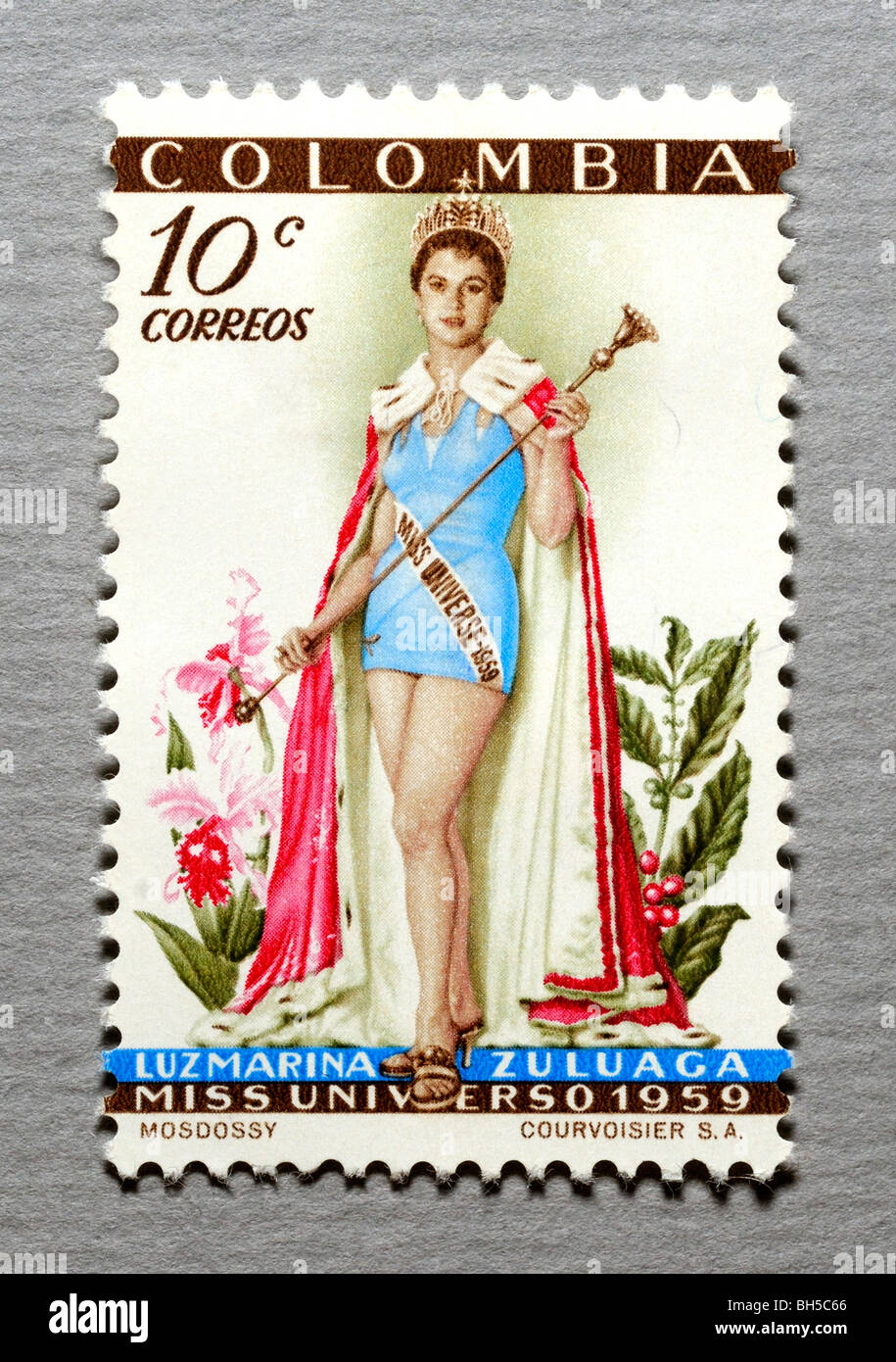 Colombia Postage Stamp. - Stock Image