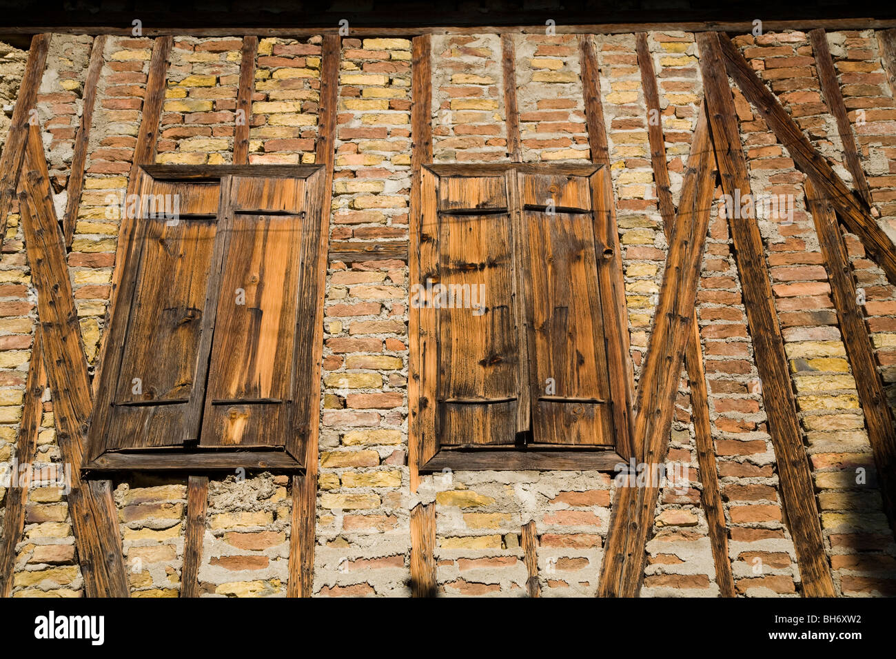 Architectural details from Safranbolu houses Turkey - Stock Image