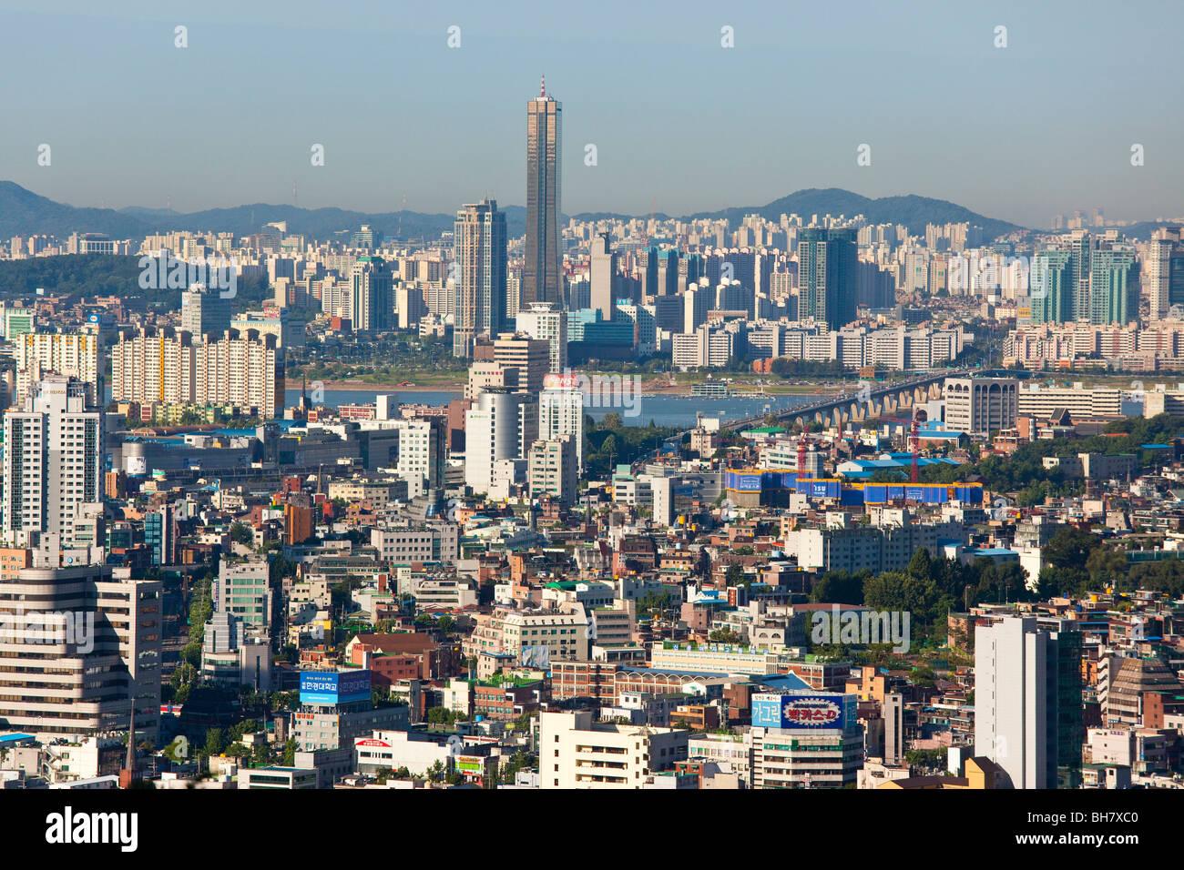 Skyline in Seoul South Korea - Stock Image