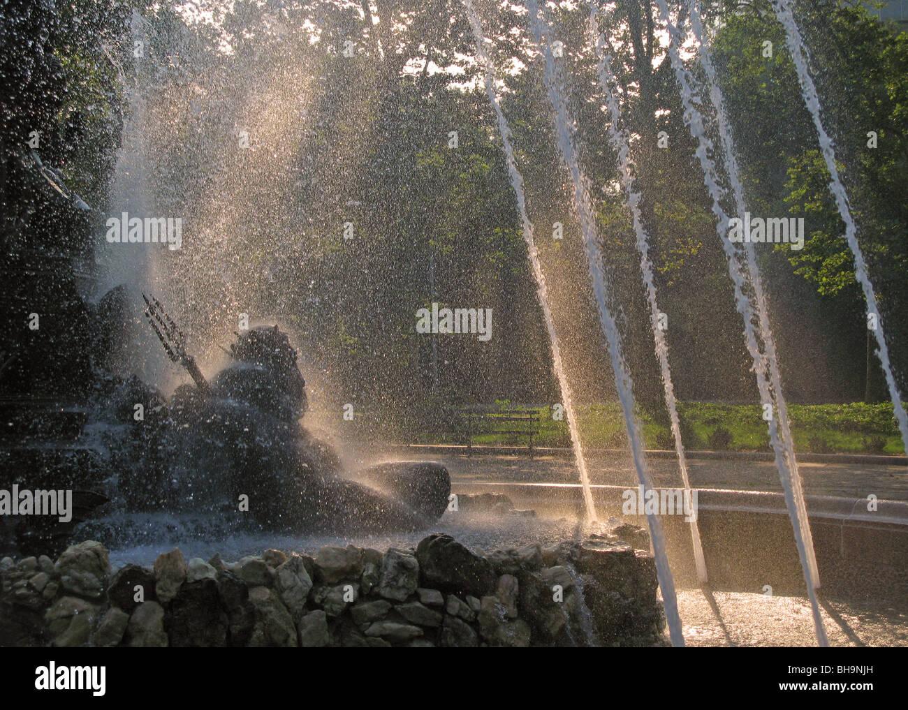 Bailey Fountain Grand Army Plaza Brooklyn NY - Stock Image