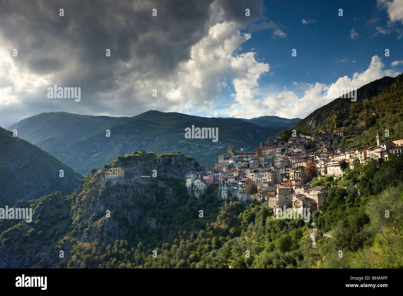 Saorge, Alpes Maritime, Provence, France - Stock Image