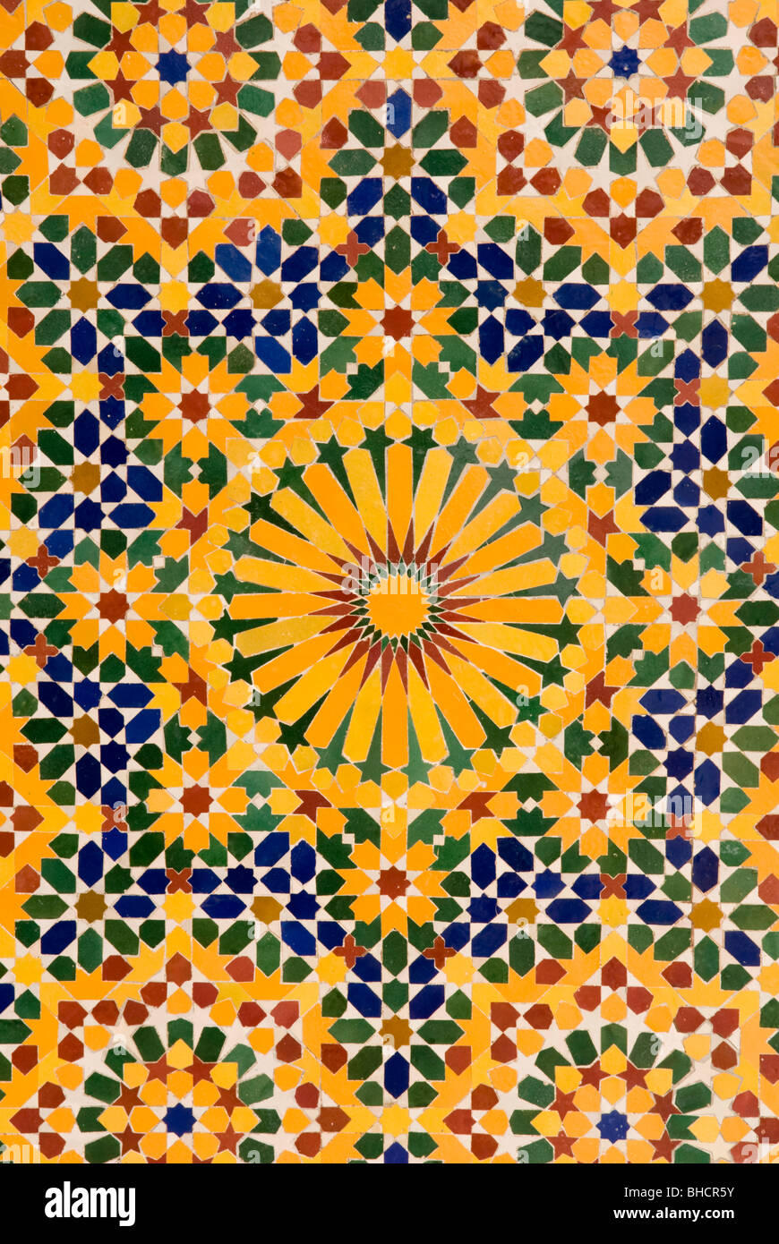 Close up of mosaic tile patterns, Hassan II Mosque, Casablanca Stock ...