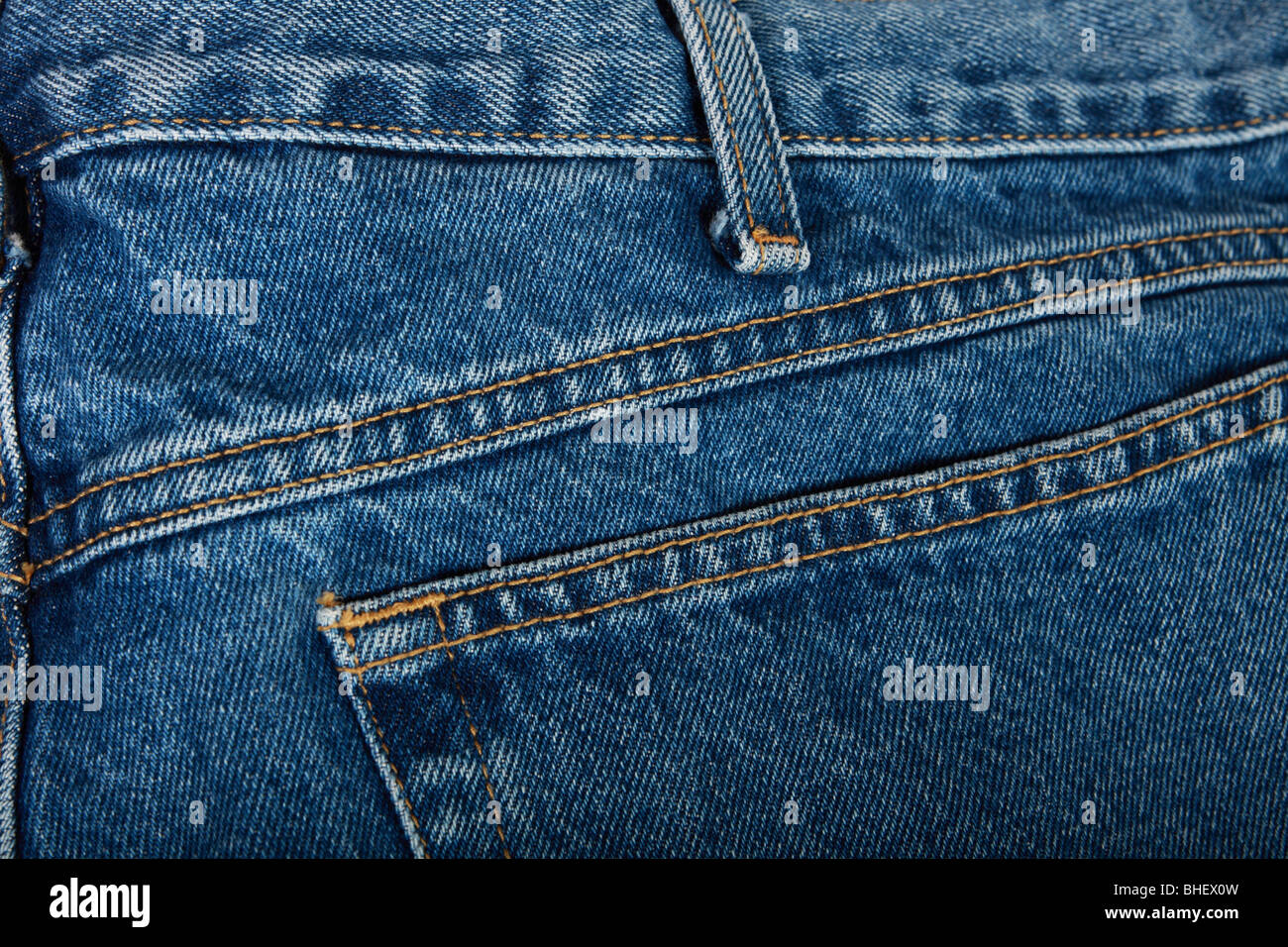 a closeup of stitched denim blue jeans stock photo 27987257 alamy