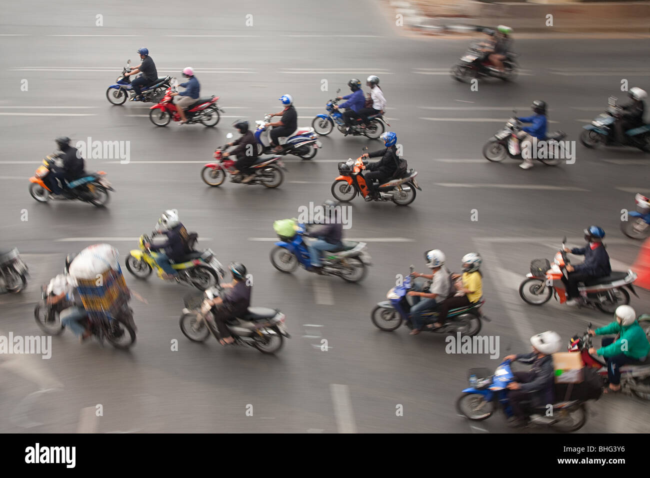 Motorcycles in bangkok - Stock Image