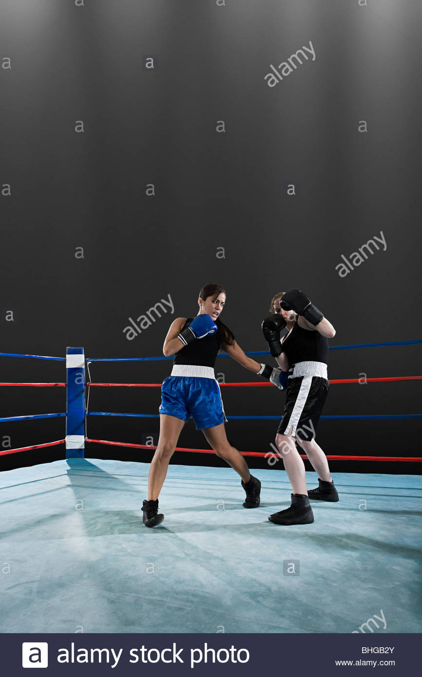 Boxing match - Stock Image