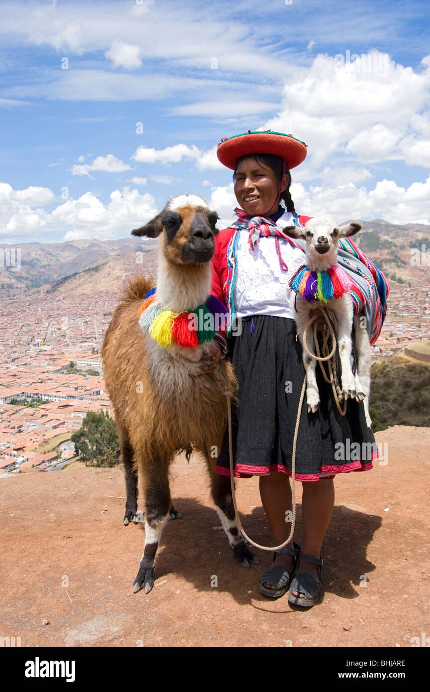 Baby Llama In Peru Stock Photos & Baby Llama In Peru Stock ...