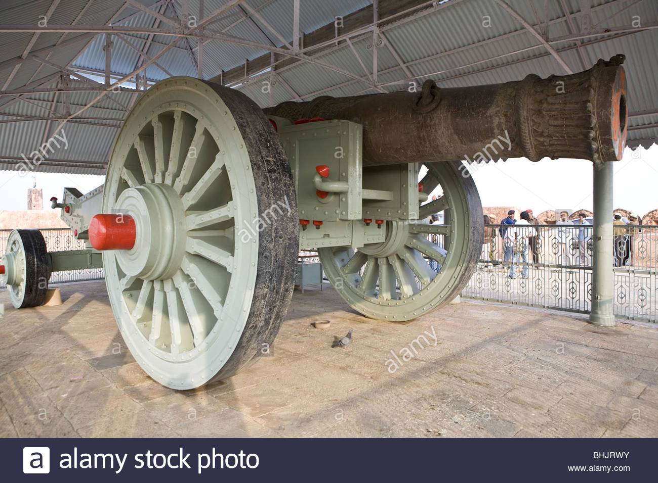 Jaigarh Fort Jaipur, Rajasthan, India Jaivana Cannon - Stock Image