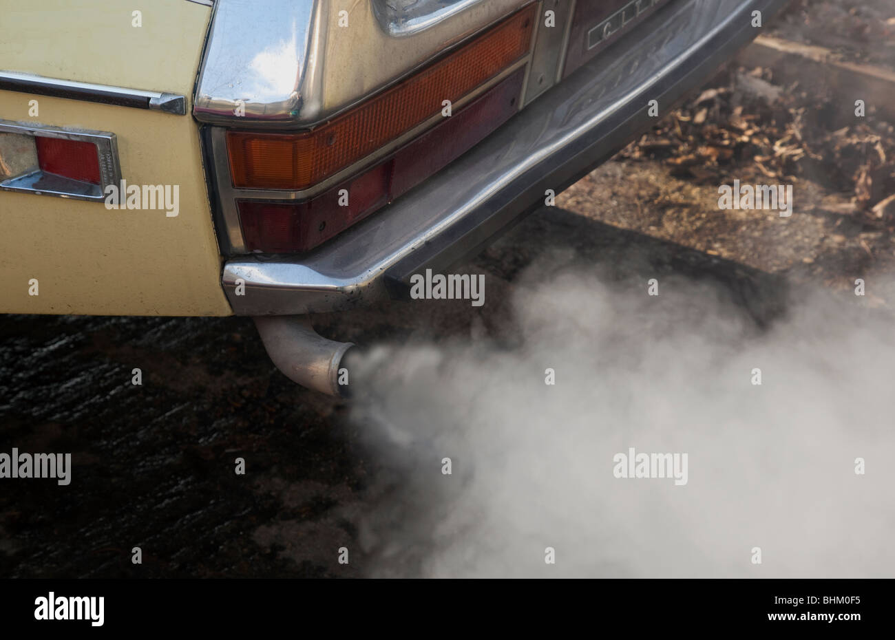 Car exhaust pollution - Stock Image