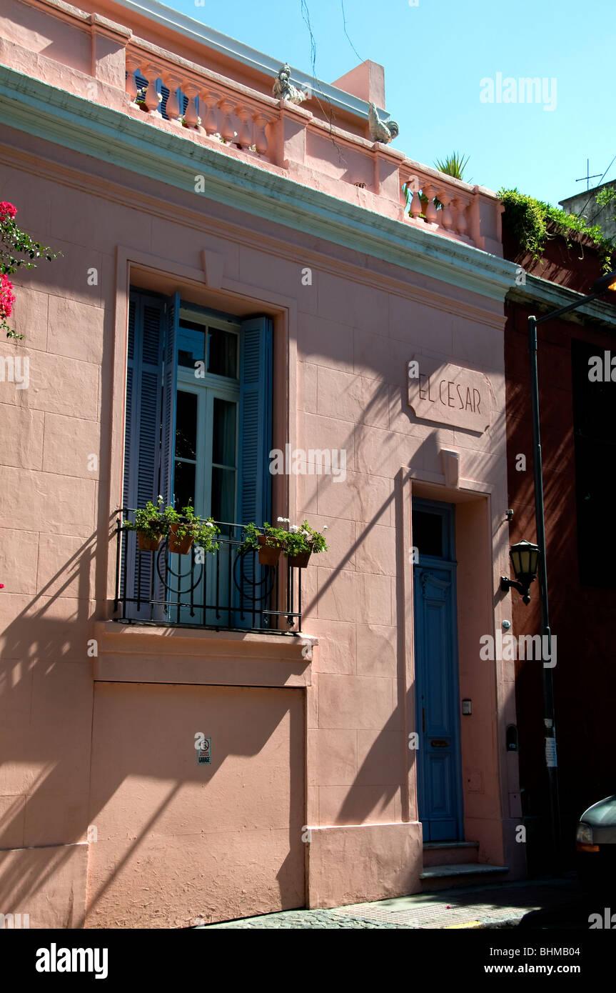 Pink House Soho Palermo Viejo Buenos Aires Argentina Stock Photo ...