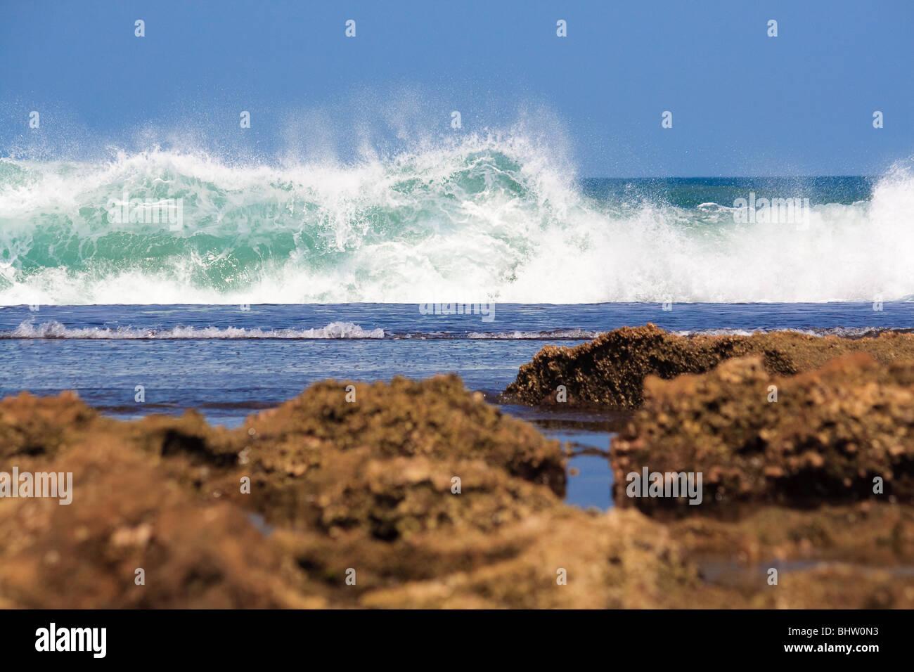 Africa Atlantic Beach Sky Mozambique Sea Xai-Xai - Stock Image
