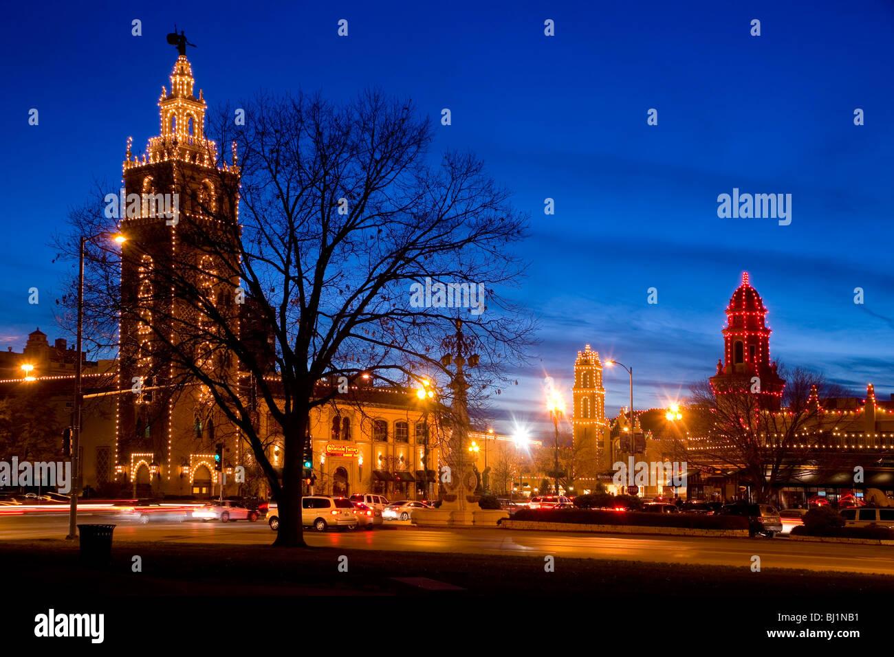 Country Club Plaza Christmas Lights in Kansas City, Missouri Stock ...