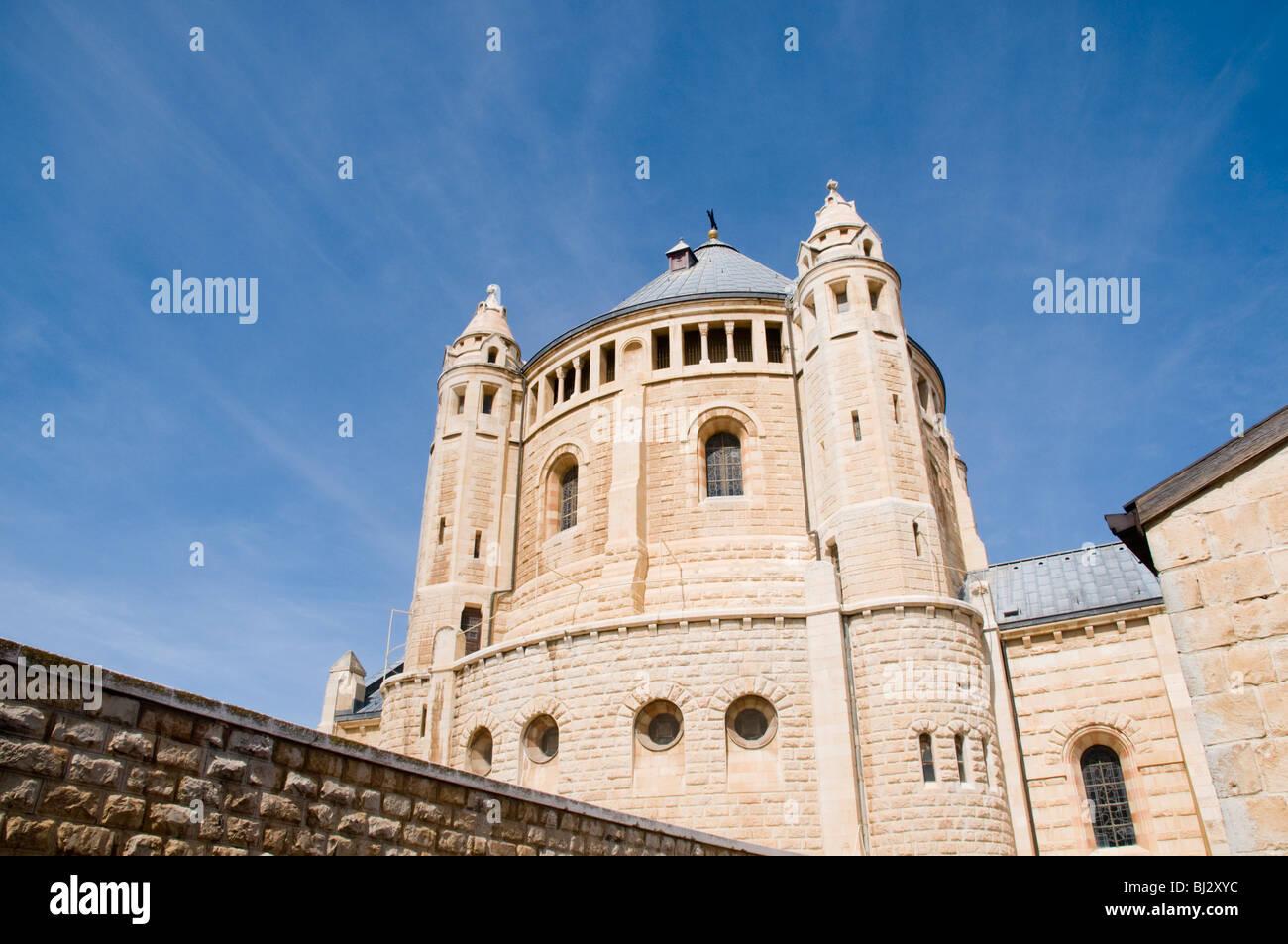 Israel, Jerusalem, Hagia Maria Sion Abbey (Dormition Abbey) - Stock Image