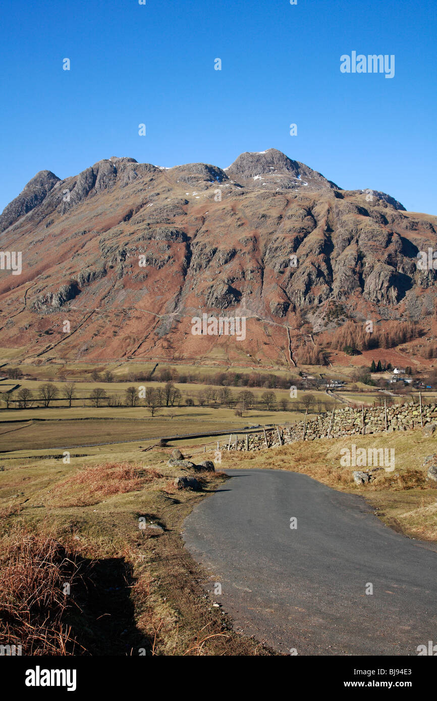 Pike O Stickle Old Dungeon Ghyll 'Langdale Valley' 'Langdale Valley' Cumbria England UK United Kingdom - Stock Image