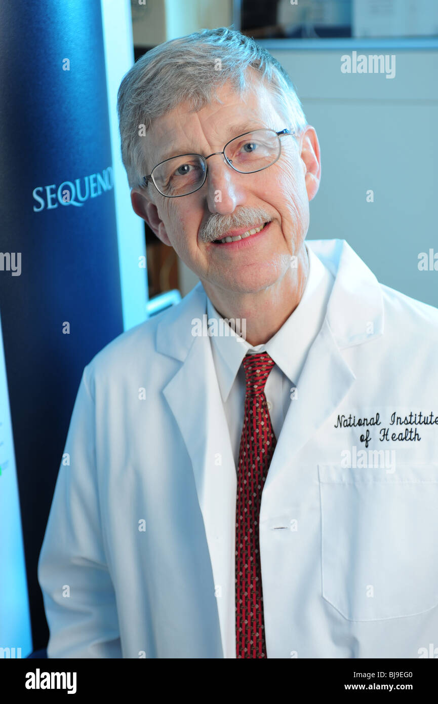 Dr.Francis Collins former director of the Human Genome Project, Now Director of the National Institutes of Health Stock Photo