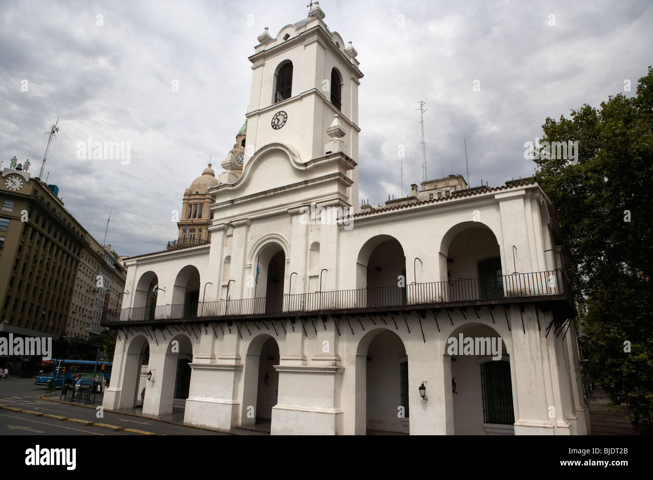 the cabildo town council building used as a museum in capital federal buenos aires republic of argentina south america - Stock Image