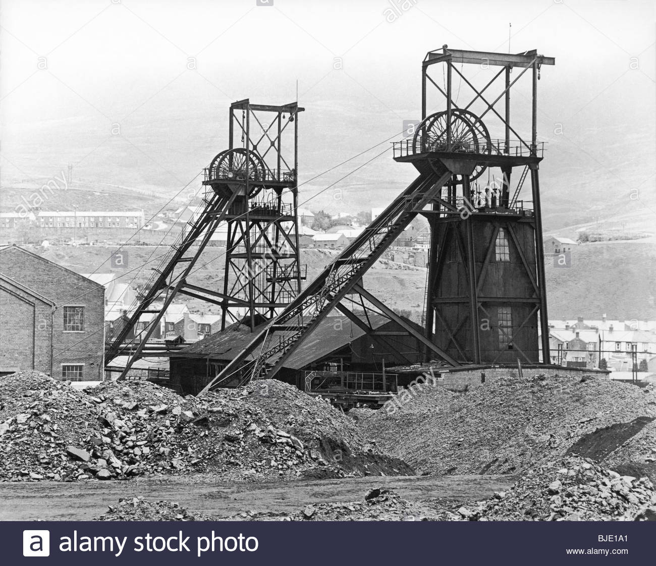 Wyndham Colliery, also known as Wyndham Western and earlier, Ocean Colliery, a National Coal Board mine at Nant Stock Photo