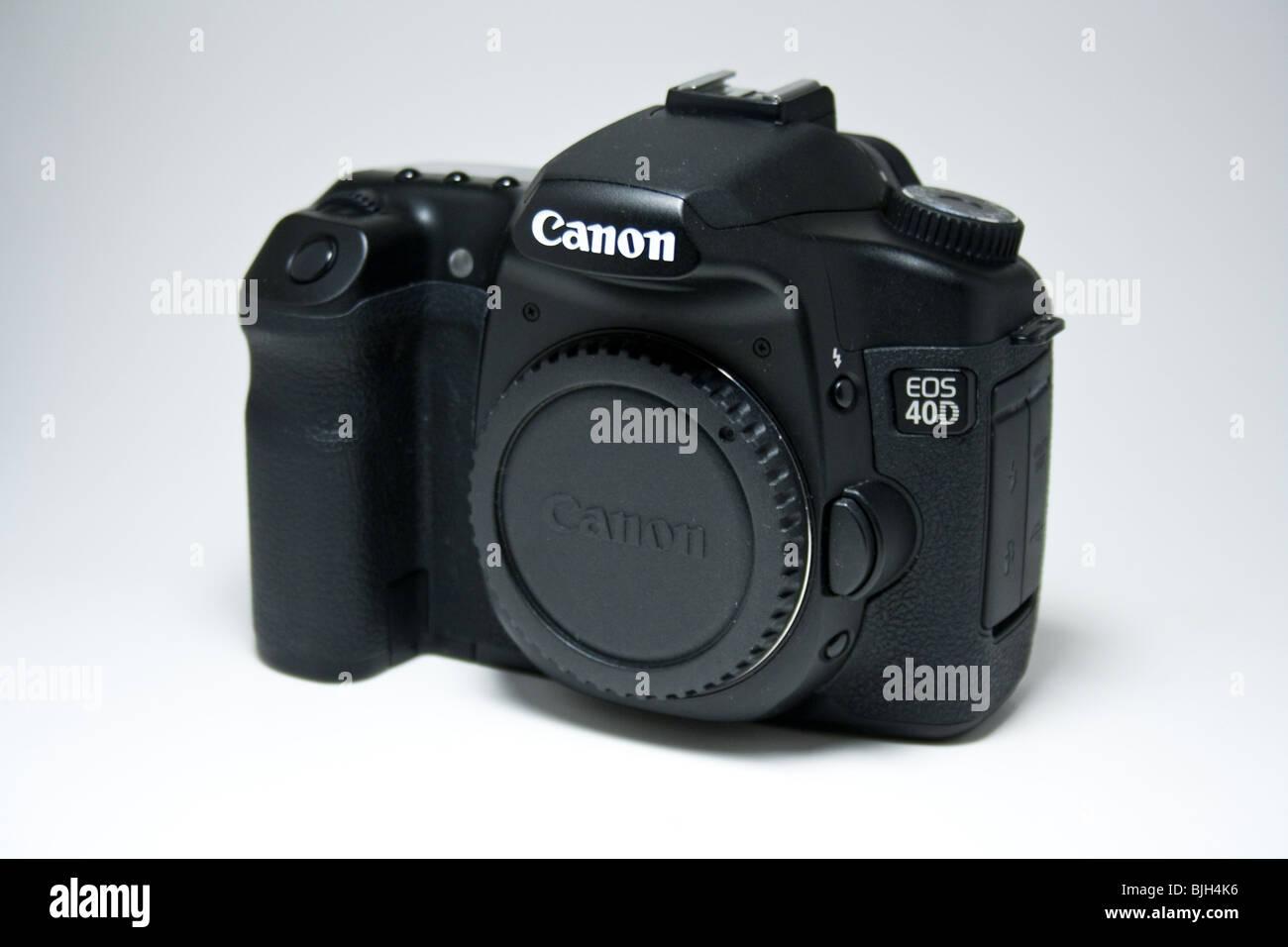 canon digital camera dslr slr advance 40d eos Japanese black product isolated - Stock Image