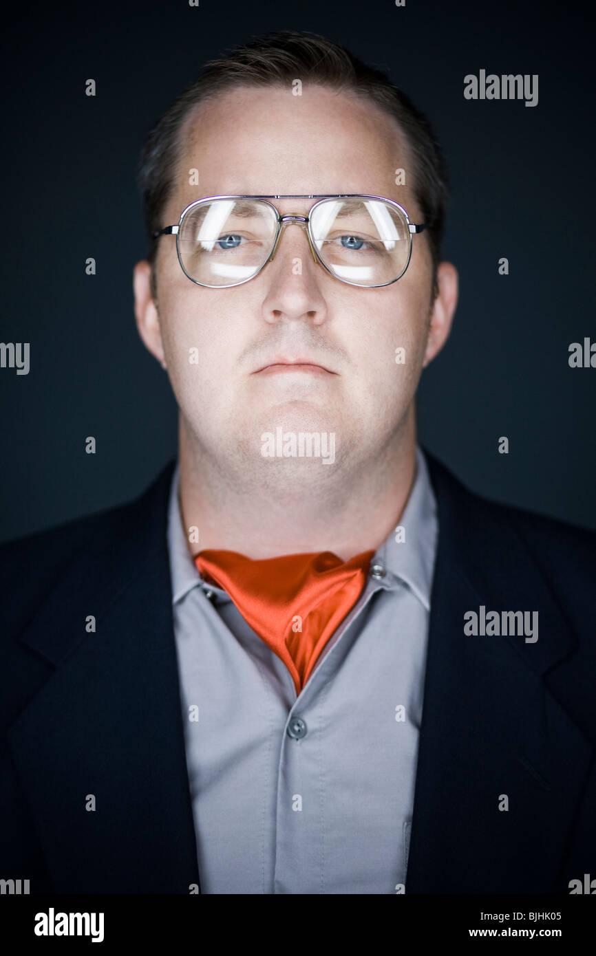 man wearing a cravat - Stock Image
