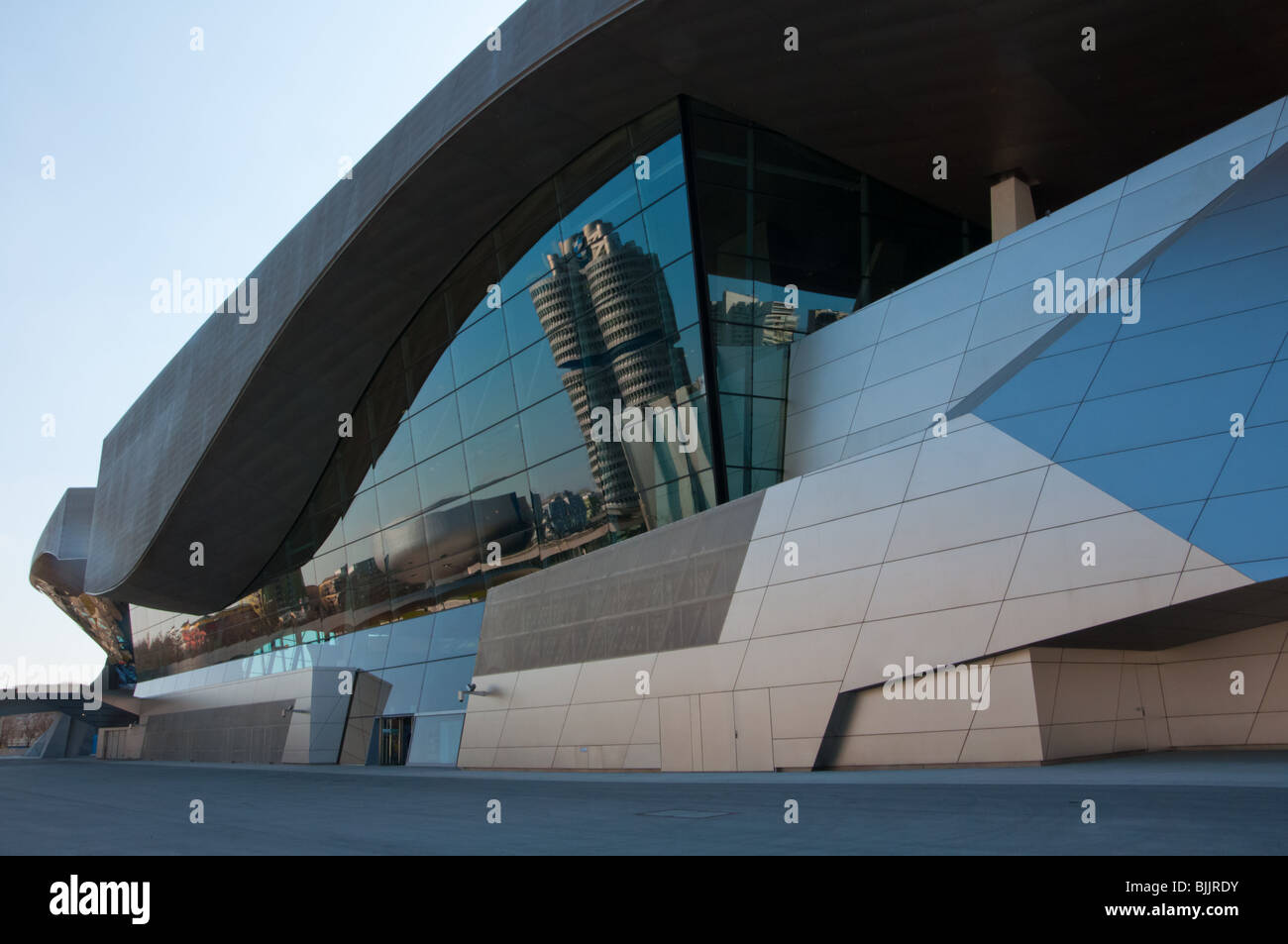 BMW Welt reflections of BMW HQ and museum.Munich,Germany Stock Photo