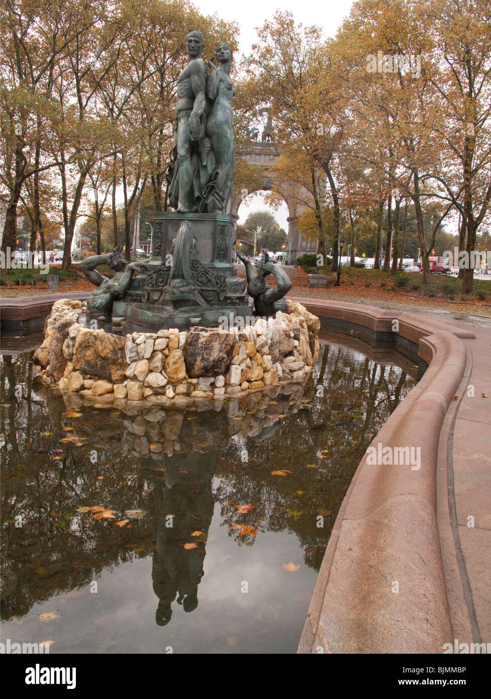 Bailey Fountain Brooklyn New York NY - Stock Image