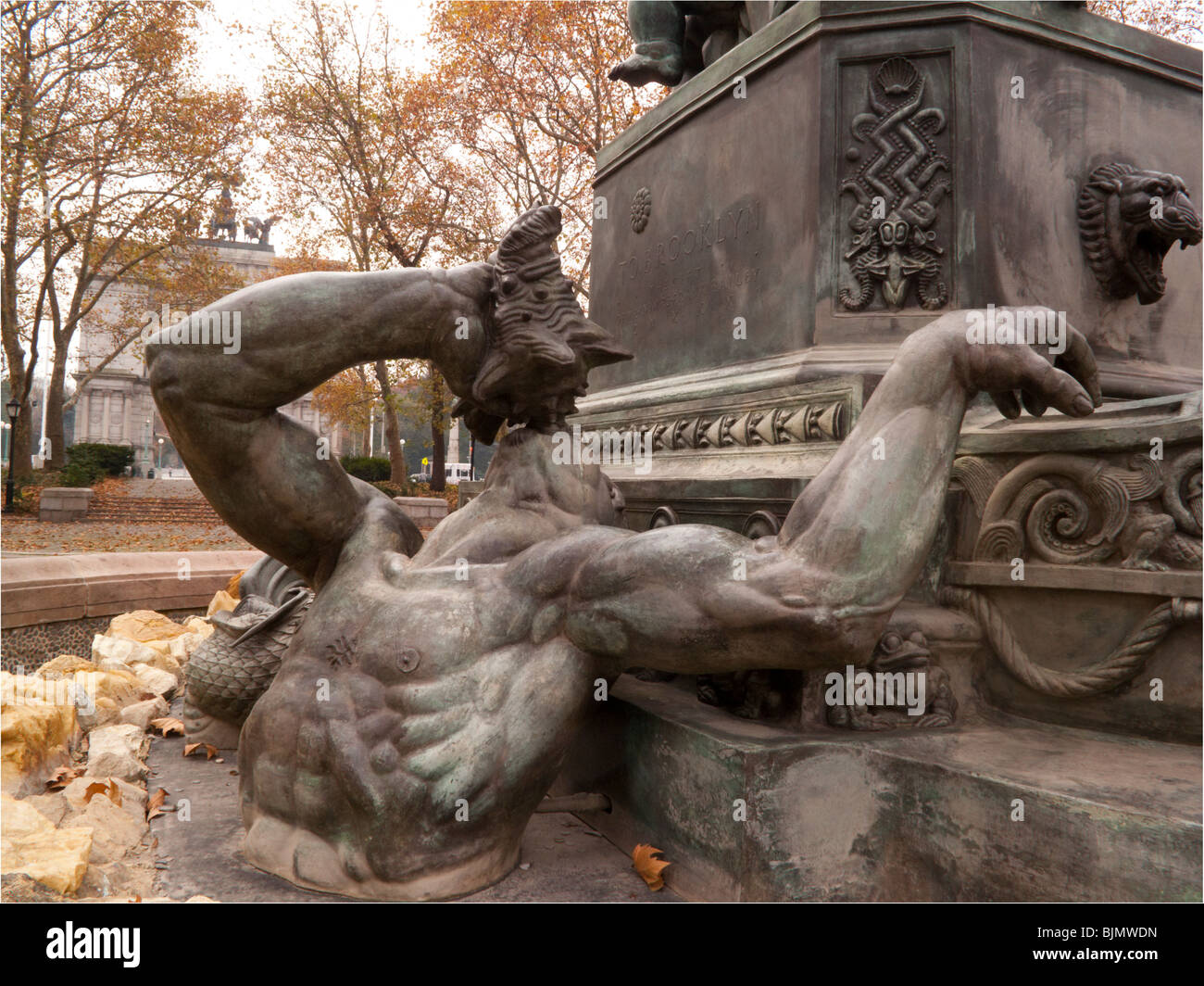Bailey Fountain Brooklyn New York - Stock Image